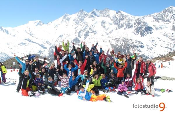 Gruppenfoto Saas Grund 2014